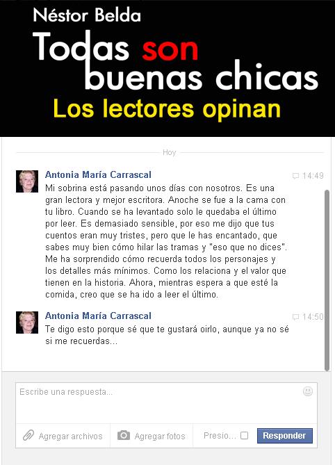 Todas con buenas chicas │ Lectora Antonia María Carrascal